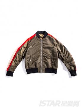 时尚军绿保暖加厚款拼色休闲棒球版型外套