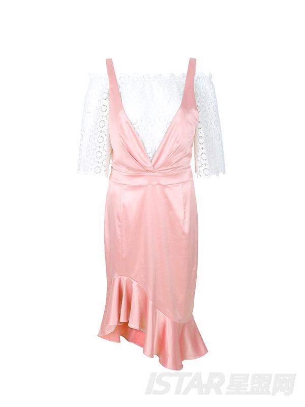 缎面复古设计套装裙