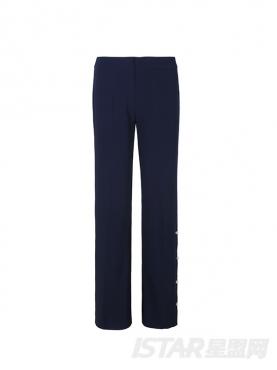简约复古风格修身喇叭裤