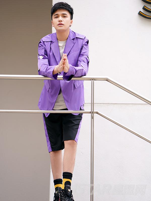 时尚拼接潮流西装款外套