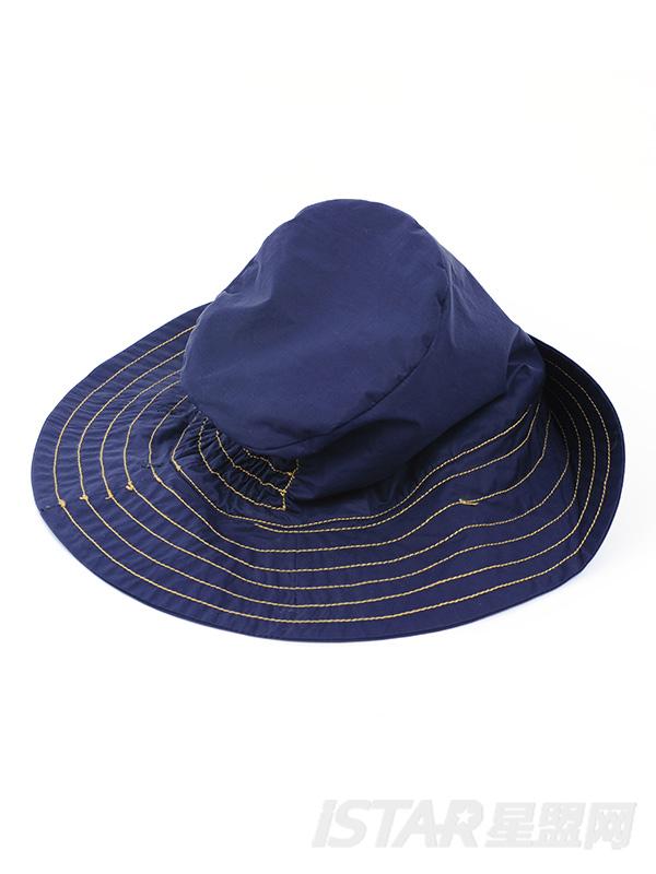 潮流紫户外休闲渔夫帽