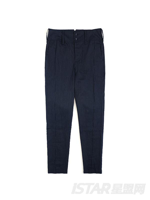 简洁时尚条纹小脚西装裤