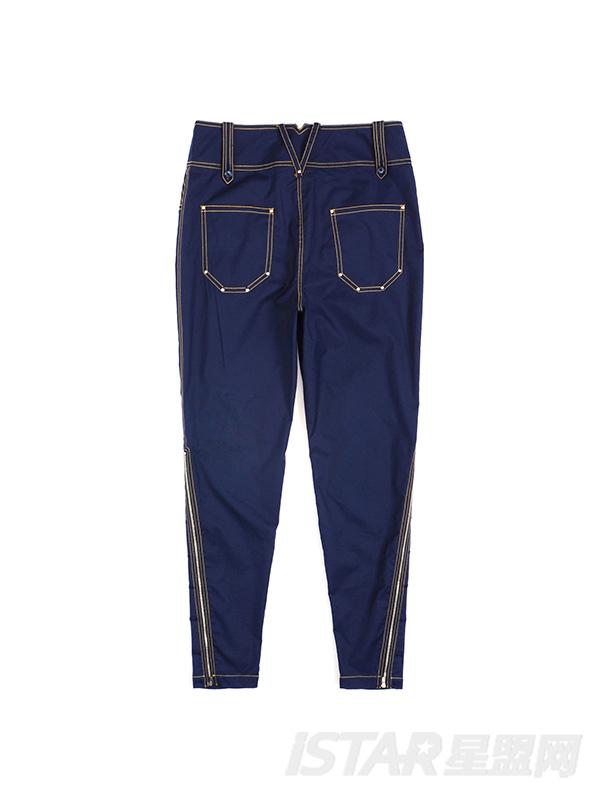多口袋铆钉压线休闲裤