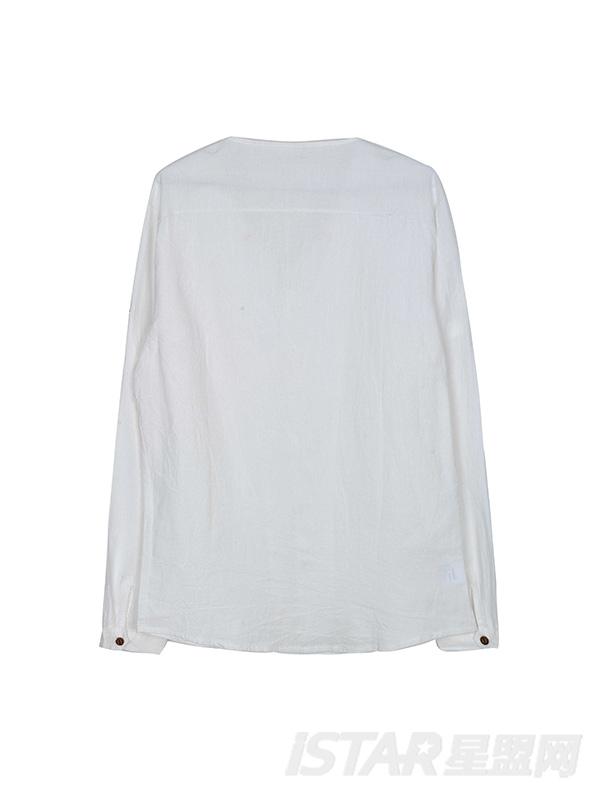 棉麻长袖衬衫