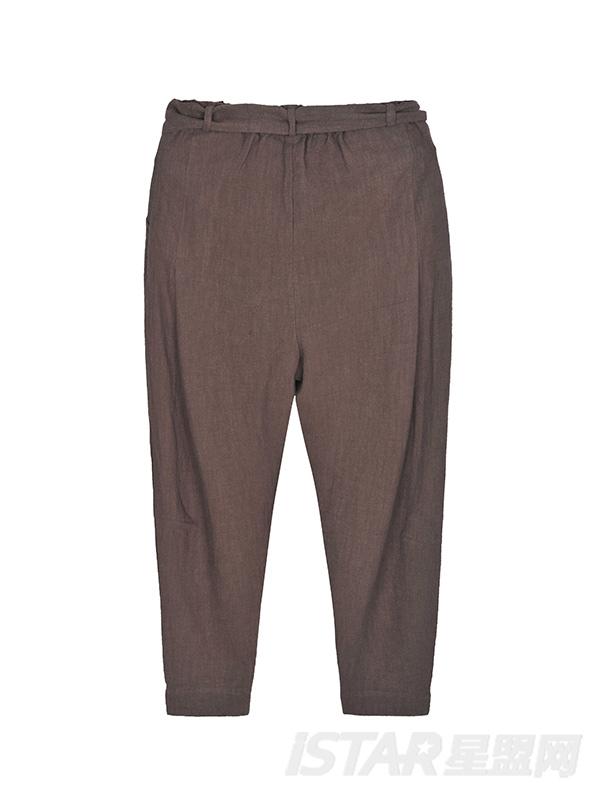 棉麻中国风休闲裤