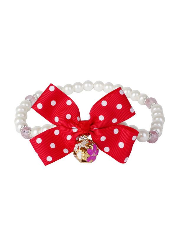 甜美蝴蝶结珍珠手链