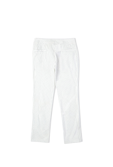 条纹七分裤