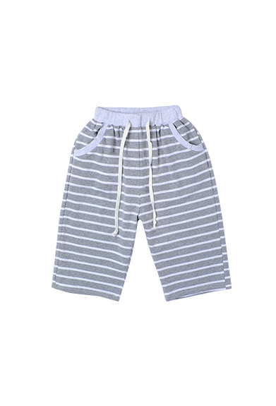 儿童条纹舒适休息短裤