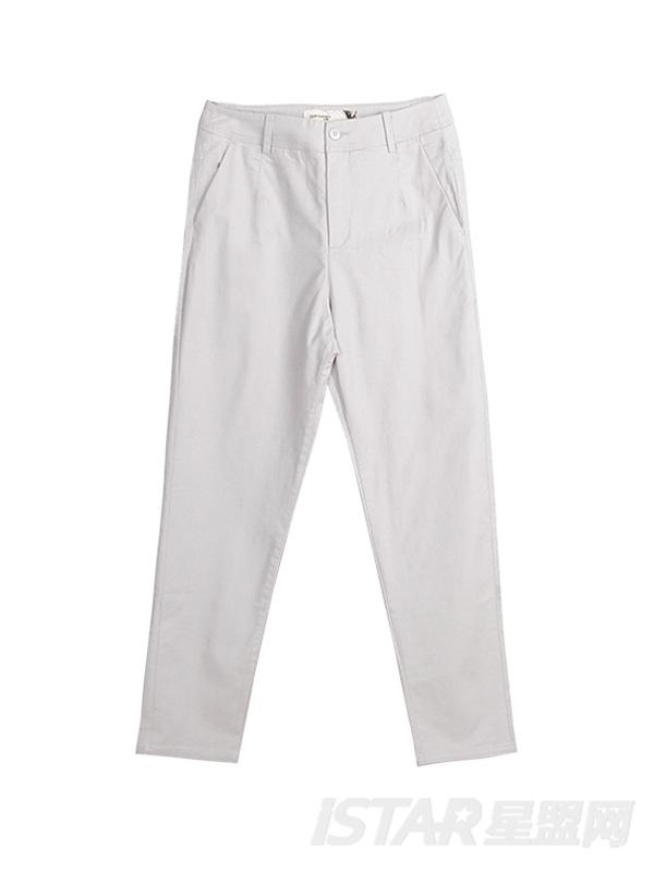 休闲九分直筒裤