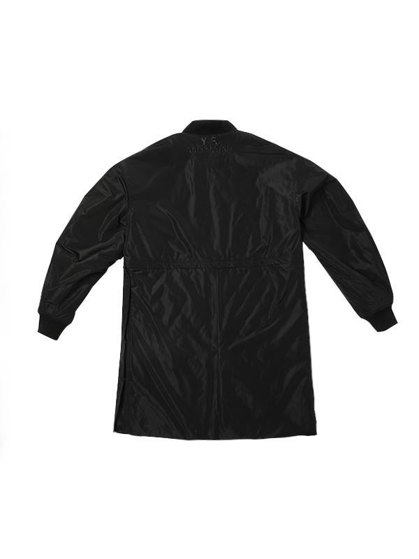 中长款抽象印花撞色潮流外套