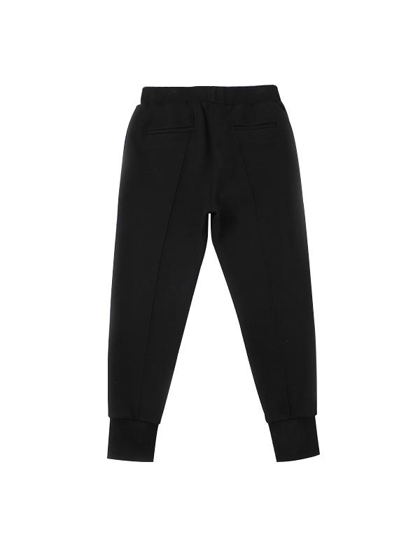经典黑纯色运动休闲小脚裤
