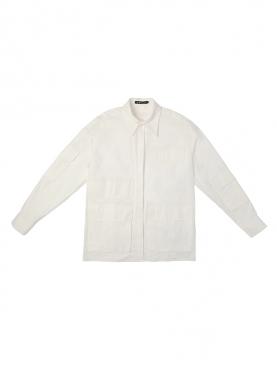 简约纯白时尚休闲衬衫