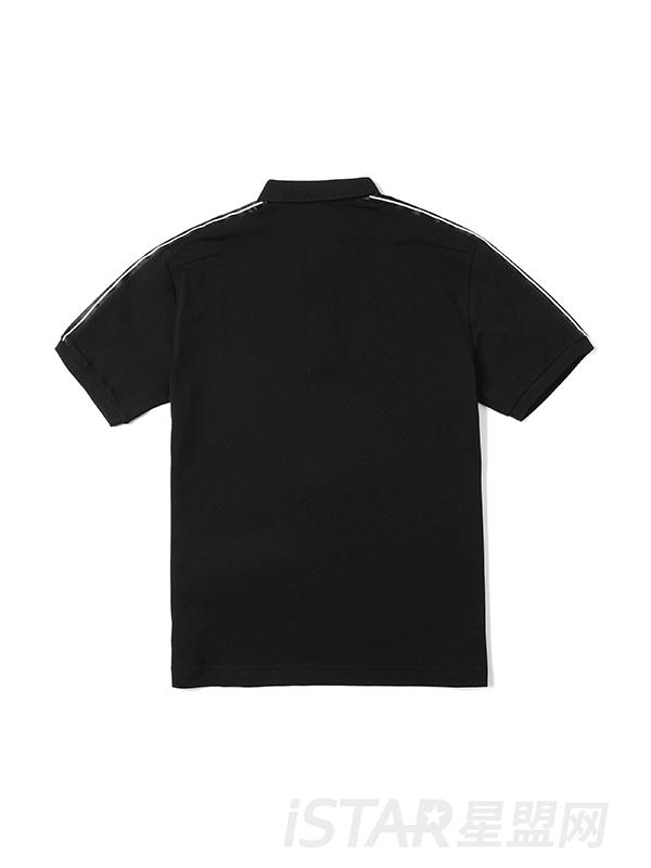 撞色字母印花T恤