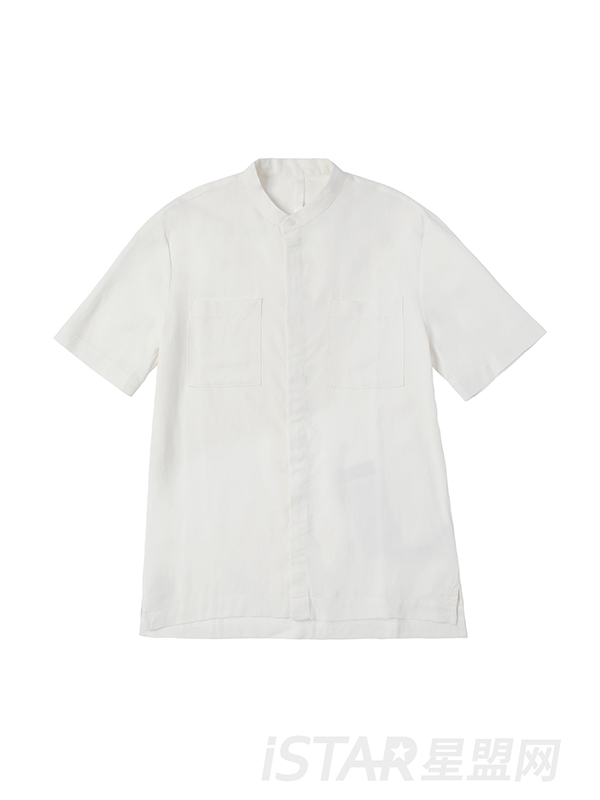 口袋休闲衬衫