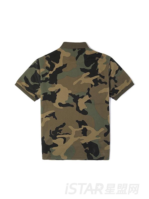 迷彩条纹T恤