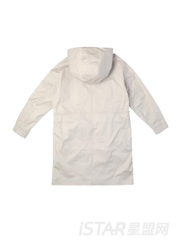 立体口袋休闲风衣