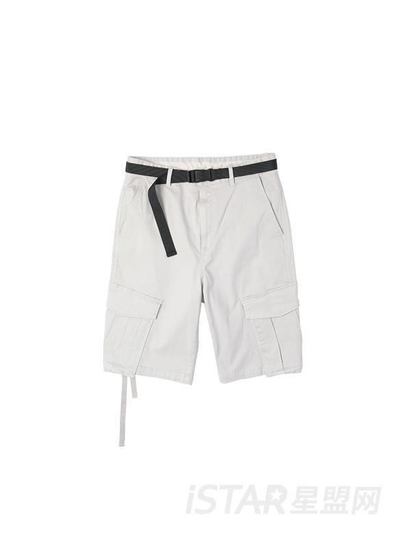 立体口袋工装短裤