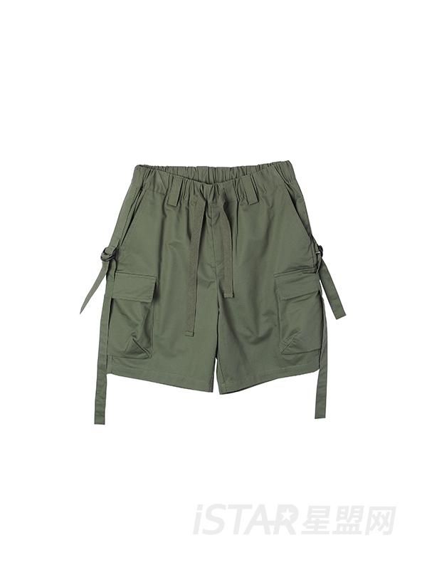 大口袋工装短裤